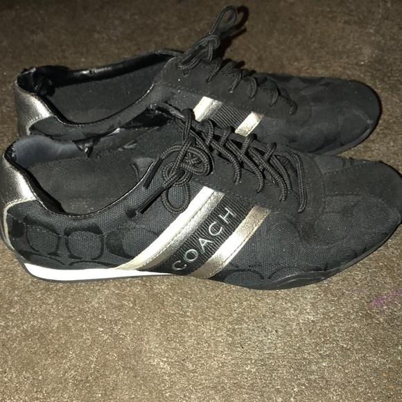Coach Shoes   Black Coach Sneakers Size